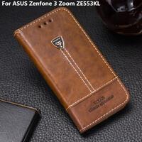 Wallet Leather Phone Case For ASUS Zenfone 3 Zoom ZE553KL Flip Slots Cover 5.5''