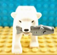 LEGO Polar Bear White Black Eyes from Arctic Sets 60036 60062 Part 98295c01pb01