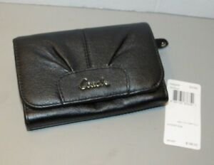 Coach F46359 Ashely Black Leather Compact clutch Folio wallet New With Tags