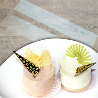 200Pcs Cake Transparent Soft Surrounding Edge Wrapping Plastic Side Membrane JE