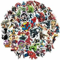 100x Aufkleber  Marvel Superhelden Stickerbomb Sticker Laptop Comic