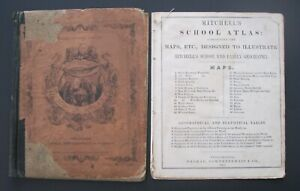 1850 Original Mitchell Atlas with 24 maps & Geographical and Statistical Tables