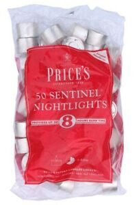 Price's Pack of 50 Sentinel Nightlights Candles