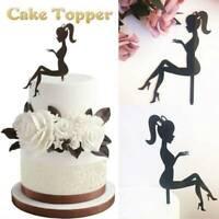 DIY High Heels Girl Princess Fairy Lady Silhouette Birthday Acrylic Cake Topper