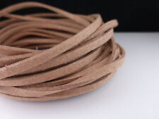 5m x 3mm Caramel Brown Faux Imitation Suede Cord Thong Beading Necklace