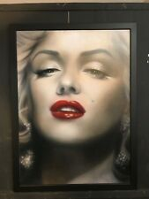 Marilyn Monroe Art with Plate Signature Framed Canvas NYCC 2017 Exclusive