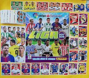ORIGINAL PANINI Liga Santander 2017 2018 Album Complete Set Stickers Rookie