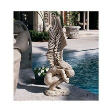 Angel Garden Statue Hand Painted Ornament Garden Lawn Patio Medium Sculpture UK