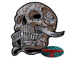 Banner Ride Forever Skull Patch Patch aufbügler Biker motocicleta rocker Harley