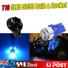 Blue 6 x T10 Led Wedge  Bulb 5SMD 5050 W/Sockets Door Courtesy Footwell Lights