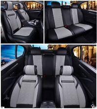 Nero & Grigio Similpelle Set Completo Coprisedili Imbottito per Kia Hyundai