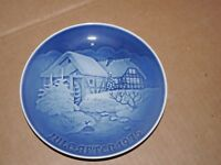 Bing and Grondahl B & G 1975 Christmas Plate Denmark Copenhagen