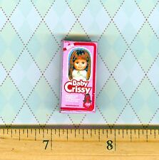 Dollhouse Miniature Size Baby Crissy Doll Toy Box