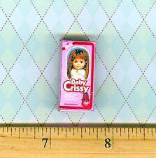 Dollhouse Miniature Size Baby Crissy Doll Toy Box