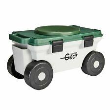 Garden Gear Kneeler Tool Store Rotating Seat Wheeled Cart Portable Weeding Stool