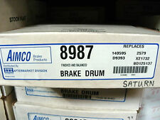 1 NOS Aimco 8987 Brake Drum for 1991 - 02 Saturn SC + SL ~ 1993 - 01 SW Rear