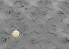 Kringelplüsch XL grau Kunstfell Plüsch Fake fur 25 cm