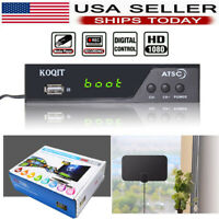 1080p Atsc Digital Converter Box Clear Tuner Receiver TV Recording HDTV Antenna