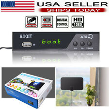 1080p Atsc Digital Converter Box Clear Tuner Receiver Tv Recording Hdtv Antenna