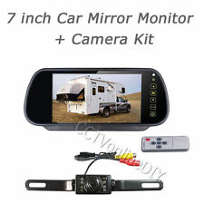 7 inch LCD Car Rearview Mirror Monitor + IR Car Backup Reversing Camera System