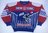 Vintage STARTER New York Giants Crewneck Sweatshirt L Pullover NFL Big Patch