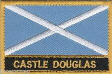 Castle Douglas Scotland Town & City Embroidered Sew on Patch Badge