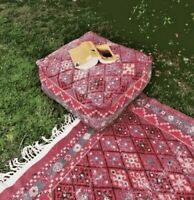 Square Moroccan Rug Ottoman Pouffe Pouf Footstool Coffee Table Beanbag Turkish