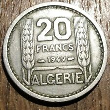 PIECE DE 20 FRANCS ALGERIE 1949 (239) TURIN