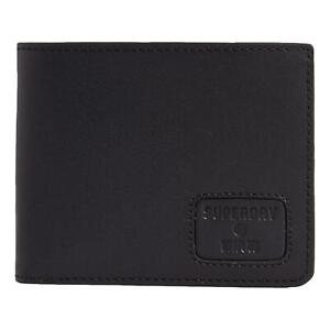 Superdry NYC Bifold Leather Wallet - Black NEW