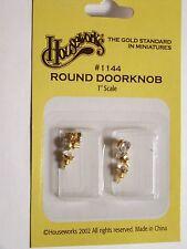 Dollhouse Houseworks Hardware Brass Crystal Door Knob #HW1144