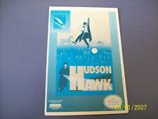 HUDSON HAWK NES 8 Bit Nintendo Vidpro Card