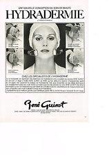 PUBLICITE ADVERTISING  1980   RENE GUINOT    salon de beauté cosmétiques