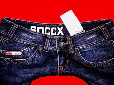 SOCCX SKINNY JEANS STIEFEL HÜFTJEANS HOT PANTS BLOGGER BoHo W27 GR. 36 NEU TOP