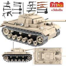 711 Pcs Military German Panzer III Tank Building Blocks Legoed Army WW2 War WOT