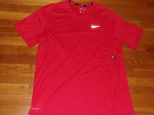 New Nike Dri-Fit Short Sleeve Red Running Jersey Mens Xl