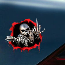 3D Metal Skeleton Skull Car Window Trunk Emblem Badge Sticker Decor Accessories