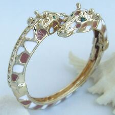 Unique Animal Giraffe Bracelet Bangle Cuff Clear Austrian Crystal CMC03302