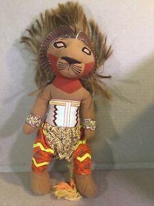 THE LION KING Broadway Musical SIMBA Lion Plush Stuffed Animal