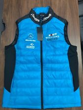 NWT FANATICS MENS WILLIAMS RACING TEAM WR2019 GILET ,LARGE ( Run 1 Size Smaller)
