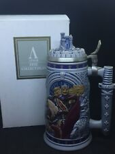 Avon 1995 Knights of the Realm Ceramic Stein, Ceramarte Brazil,BOX, King Arthur