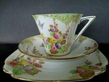 Art Deco / Vintage China Tea Set Trio.Standard China.Hand Painted.British.7846