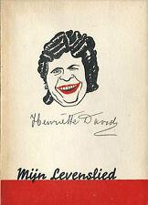RARE EO 1948 HENRIETTE DAVIDS + SUPERBE DÉDICACE + PHOTOS : MIJN LEVENSLIED