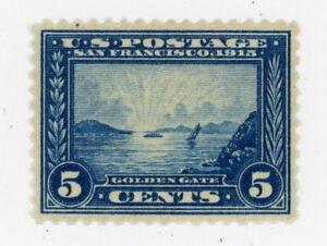 Rare 1915 Scott #403 5 cents Golden Gate Bridge Blue MINT NH OG   LOOK