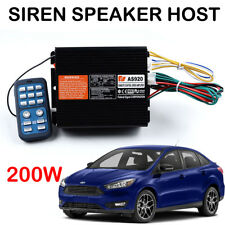 Universal 200W Siren Auto Loud Speaker PA System Car Warning Alarm Control Host