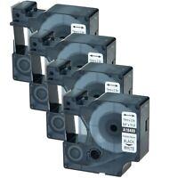 4P 18489 Black on White Flexible Nylon Industrial Label Tape for Dymo Rhino 5200
