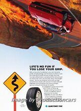 1990 Sumitomo Tire Ferrari 328GTS Original Advertisement Print Art Car Ad J688