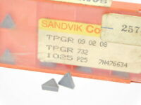NEW SURPLUS 10PCS. SANDVIK  TPGR 732  GRADE: 1025  CARBIDE INSERTS
