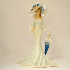 Damsel at Delmar Lady Figurine  Victorian Promenade Bradford Exchange
