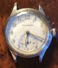 JAEGER LeCOULTRE 109 Cal. P469/A Stainless Steel Military Watch Estate Find
