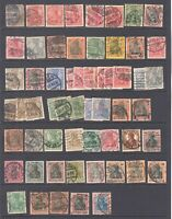 GERMANY GERMANIA MOST SOUND COLLECTION LOT 59 STAMPS CANCEL SPECIALIST
